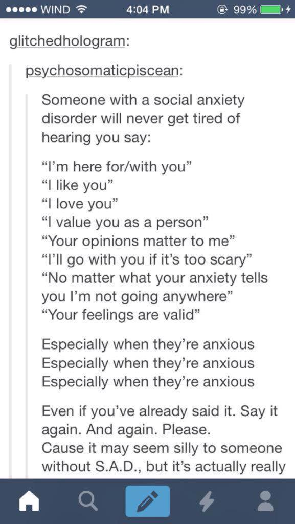 Dating someone anxiety disorder